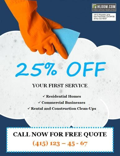discount flyer template 14 free cleaning flyer templates house or business