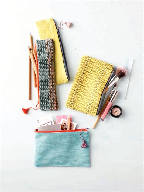 knitted zippered pouch pattern crochet zipper pouch pattern flax twine