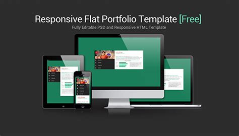 Flat Responsive Portfolio Website Template Free Download Egrappler Html Portfolio Template