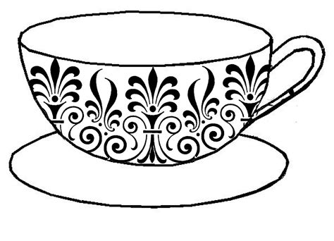 Teacup Outline Drawings by Pin Teapot Template On