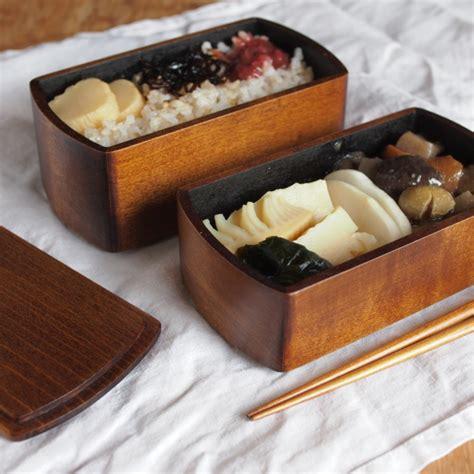 wooden lacquered bento boxes by oji masanori spoon tamago