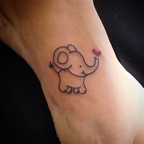 small black tattoo 30 adorable tiny elephant