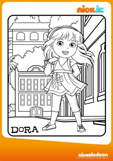 dora and friends coloring pages nick jr 111 best dora friends images on pinterest nick jr