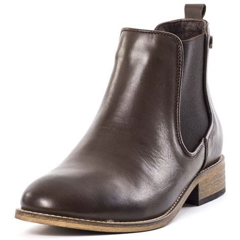 sweet ridge womens chelsea boots in brown