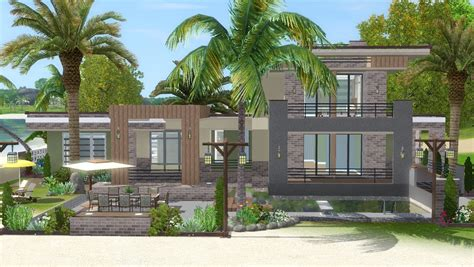how to build a house in sims 3 the sims 3 house building lagoon beach w simlinks youtube