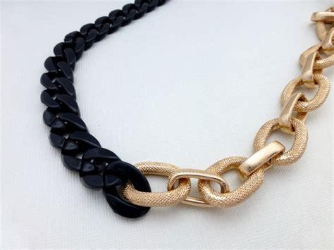 chunky necklace bold chunky chain necklace felt