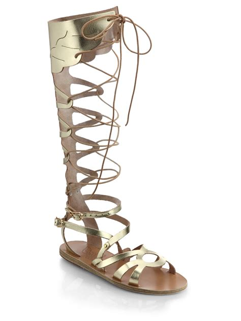 metallic gladiator sandals ancient sandals odyssey metallic leather gladiator