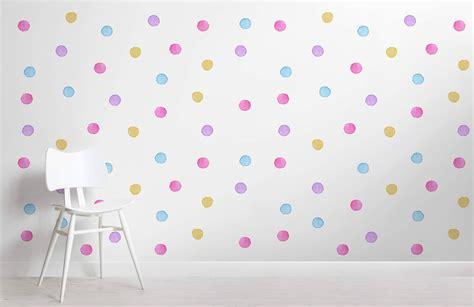 kids watercolour polka dot wallpaper murals wallpaper