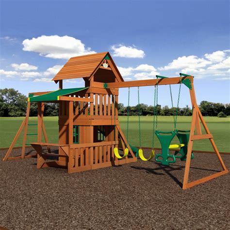 backyard discovery saratoga saratoga wooden swing set playsets backyard discovery