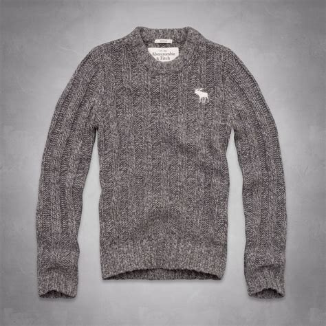 Where Can I Buy An Abercrombie Gift Card - nwt abercrombie fitch men schofield cobble sweater gray cable knit xxl 2xl