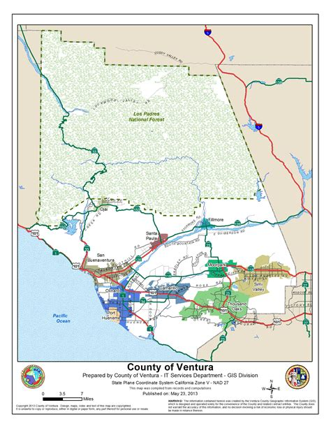 california map gis ventura county images
