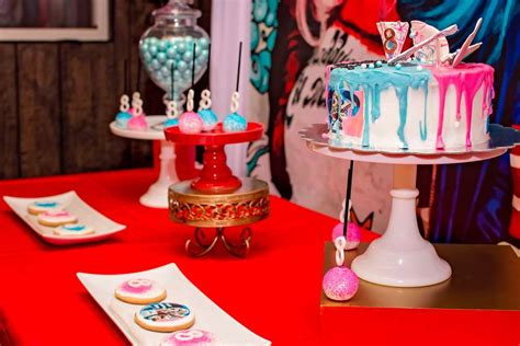 harley quinn themed birthday party harley quinn birthday party ideas bike gallery
