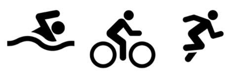 how to your to run with a bike logo swim bike run triathlon symbol