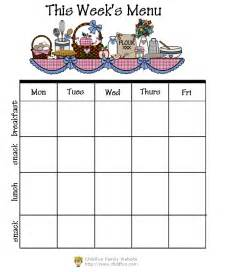 blank daycare menu template doc 400309 menu for the week template 25 best ideas
