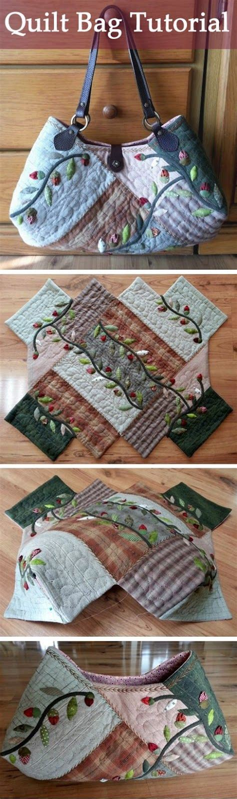 pattern quilt bag bags flower and scrappy quilts on pinterest
