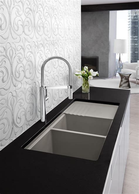 kitchen sinks and faucets designs modern kitchen designs blanco truffle faucet and sink