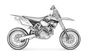 disegno da colorare di una moto marca ktm realistica