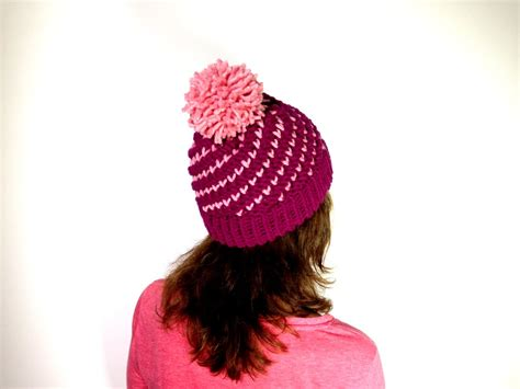 how to knit a hat in the how to loom knit a bicolor mini hearts spiral hat diy