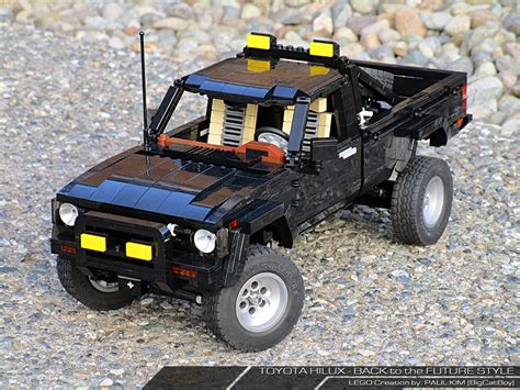 lego toyota 4runner toyota sr5 4x4 back to the future all in lego autoevolution