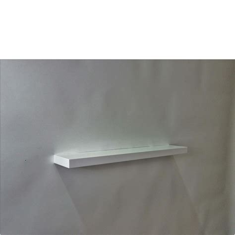 gloss white floating shelf 800x150x38mm mastershelf