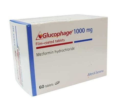 glucophage 1000 mg 60 tablets