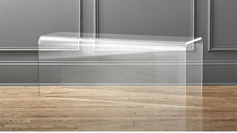 plexiglass bench peekaboo acrylic bench cb2