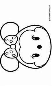 colorear minnie 02 tsum tsum dibujo colorear gratis