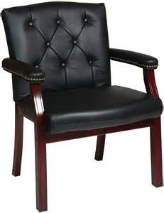 Star traditional leather guest chair guest chairs chairhero com