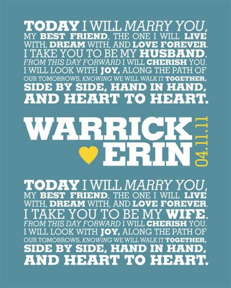 Wedding Vows Modern by The World S Catalog Of Ideas
