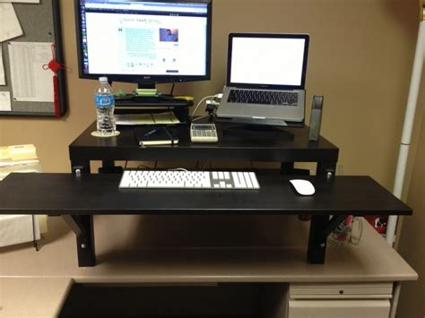 make a standing desk make your own standing desk homesfeed