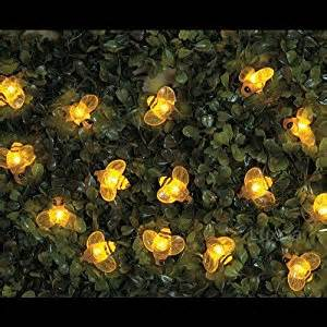 bumble bee string lights 20 x yellow solar bumble bee light string