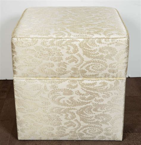 vanity ottoman hollywood regency upholstered ottoman or vanity stool at