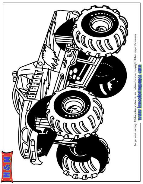 bigfoot monster truck coloring pages big foot monster truck coloring page free printable pages