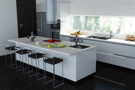 small kitchen design with island simple home decoration plan de travail cuisine en blanc quartz ou corian