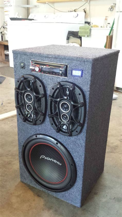 Backyard Stereo System by 25 Best Ideas About Subwoofer Box Design On