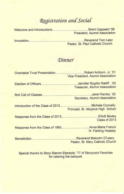 awards ceremony program template awards banquet order of ceremony template http www