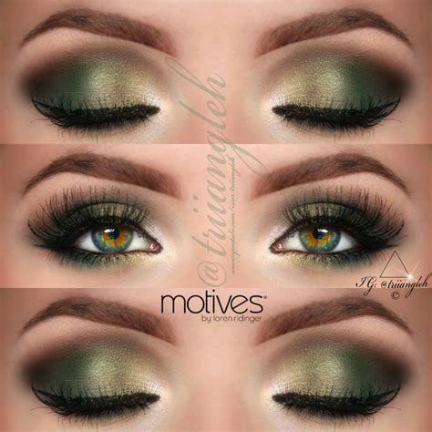 Eyeshadow Smokey green gold smokey eye makeup tutorial makeup vidalondon