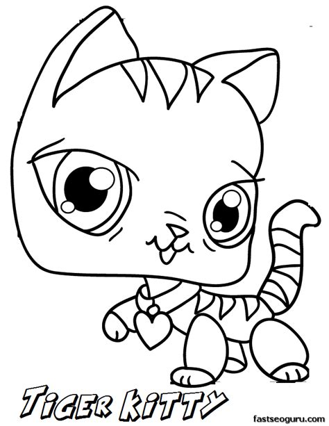 printable littlest pet shop tiger kitty coloring pages