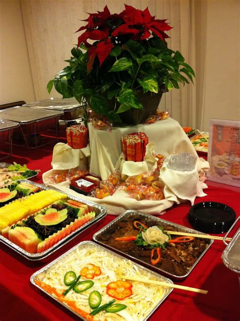 new year buffet ideas wok with seven seas catering a house for the new year