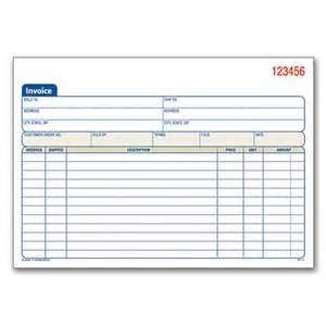 adams carbonless invoice books 2 part 8 716 x 5 916 pack