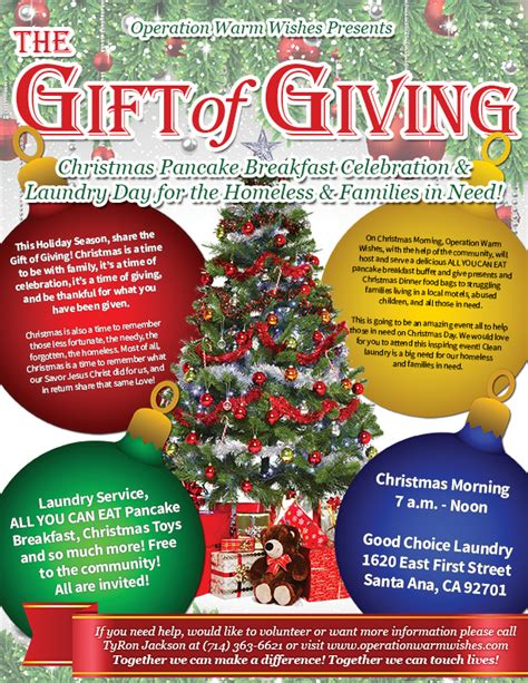 operation warm wishes presents the gift of giving