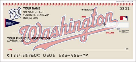 Washington Background Check Washington Nationals Checks Designer Checks