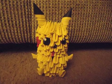 3d Origami Pikachu - 3d origami pikachu by mewmewcat12 on deviantart