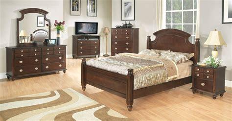 transitional bedroom sets dark brown finish transitional 6pc bedroom set w options