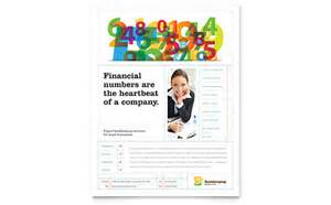 accounting amp bookkeeping flyer templates financial
