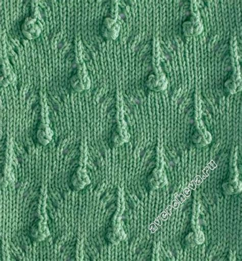 russian knitting patterns stitch which looks like drops of charted russian