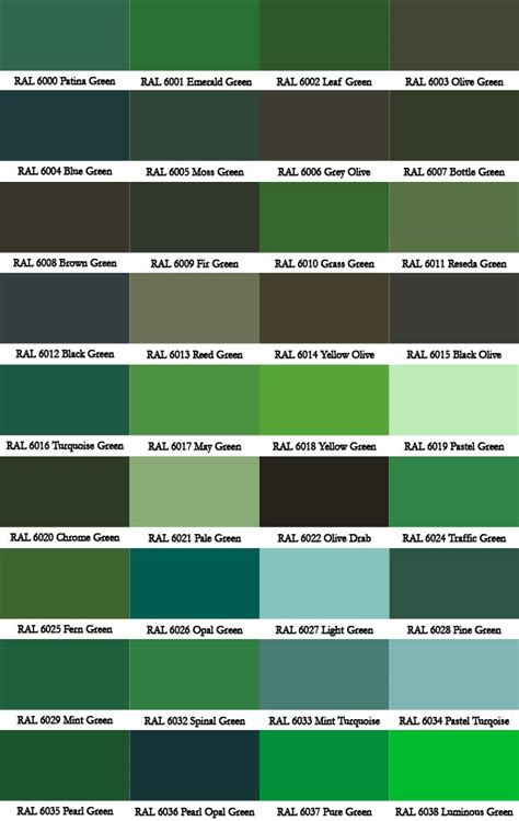 ral colour chart warwick glass