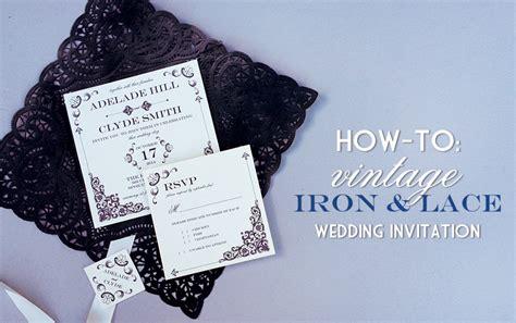 diy lace doily wedding invitations vintage iron lace wedding invitation with diy lace pocket