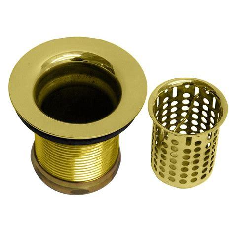 brass sink strainer basket foret 2 in basket sink strainer in polished brass