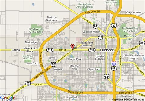 map lubbock texas map of la quinta inn lubbock center lubbock
